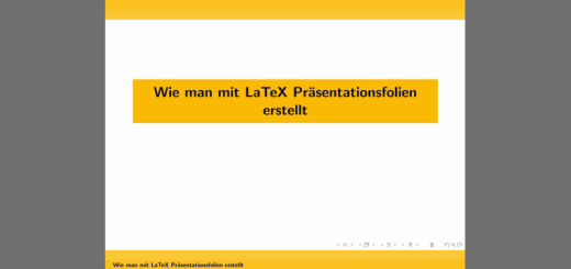 LaTeX-Präsentationsfolien Logo