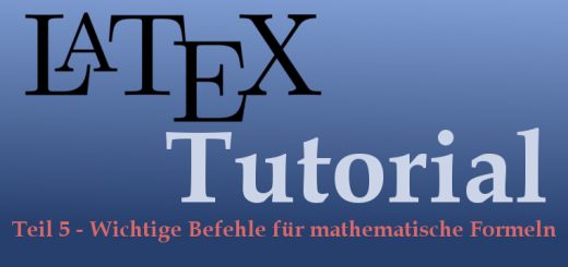 LaTeX-Tutorial Teil 5 Logo